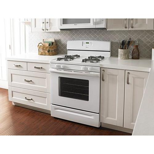 5.0 cu. ft. Gas Oven Range with Easy Touch Electronic Controls - white