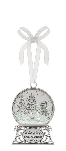 Ornament - Holiday hugs and snowflake kisses