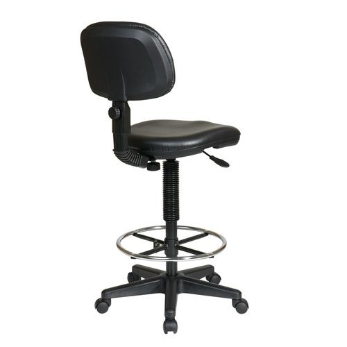Sculptured Seat and Back Vinyl Drafting Chair