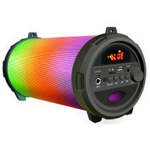 Large LED Lighted Cylinder Shaped Bluetooth Speaker
