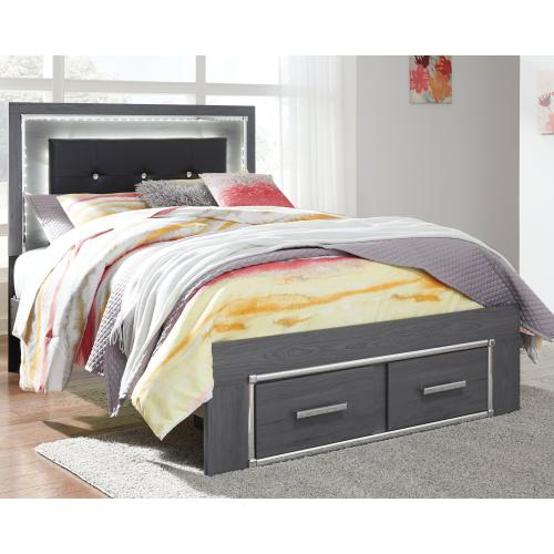 Lodanna Full Panel Bed With 2 Storage Drawers