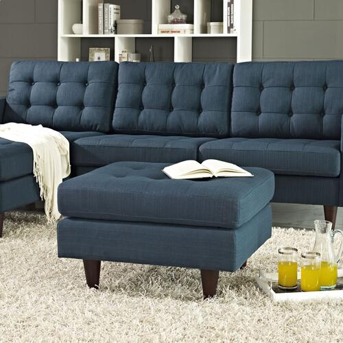 Modway - Empress Upholstered Fabric Ottoman in Azure