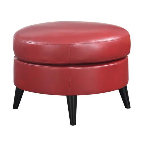 Oscar Chair & Ottoman Set, Red U3538-05-03-02-2pc-k