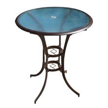 "Palm Bay 42"" Round Pub Table w/glass"