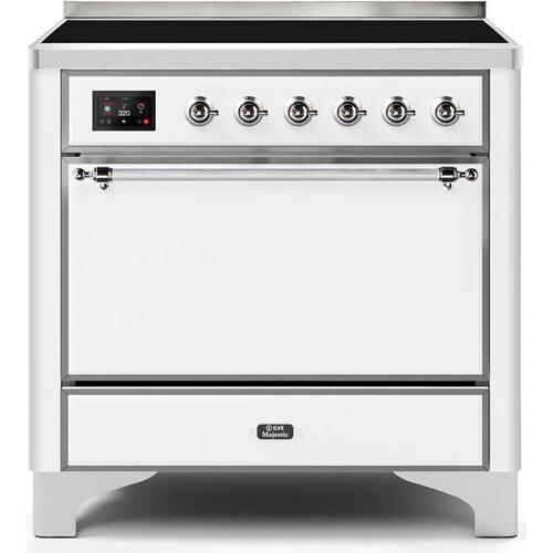 36 Inch White Electric Freestanding Range