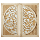 Distressed Gold Overlay on Half Circle Wall Mirror (2 pc. ppk.) Product Image