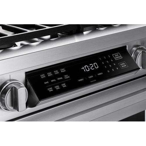 "30"" Dual Fuel Pro Range, Silver Stainless Steel, Natural Gas/High Alttitude"