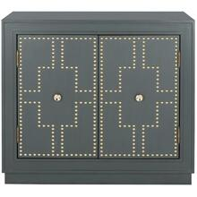 Azuli 2 Door Chest - Steel Teal / Gold