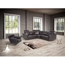 Estro Salotti Ethan Modern Black Leather Sectional Sofa