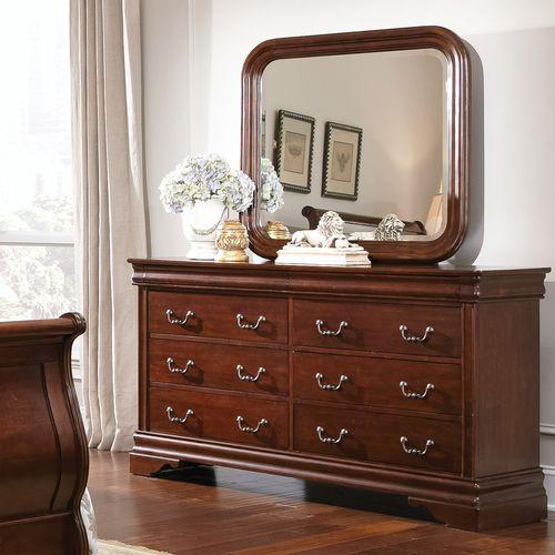 Liberty Furniture Industries - King Sleigh Bed, Dresser & Mirror, Chest