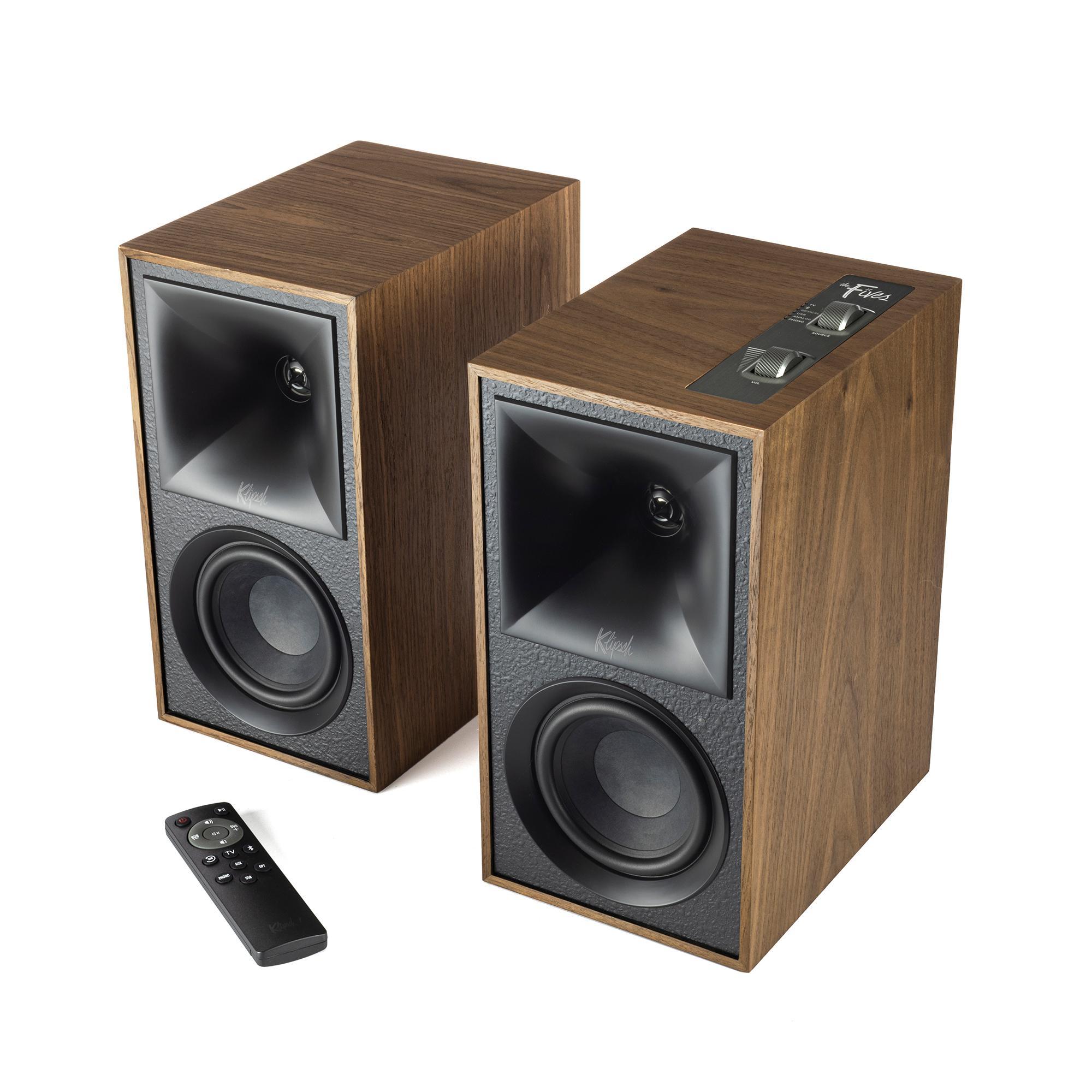 The Fives Powered Speakers Powered Speakers - Walnut