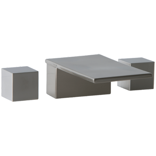 Milan 3-Hole Deck Mount Tub Filler SQU Brushed Nickel