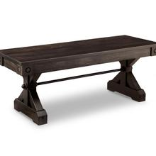 """See Details - Rafters 48"""" Bench with Fabric Seat"""