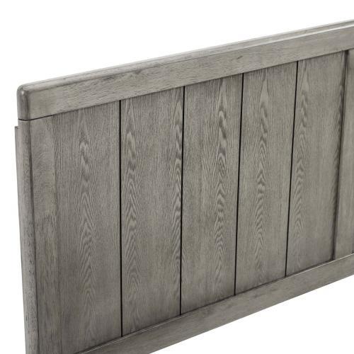 Robbie Twin Wood Headboard in Gray