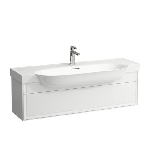 White Matte Vanity unit, 1 drawer, matches vanity washbasin 813858