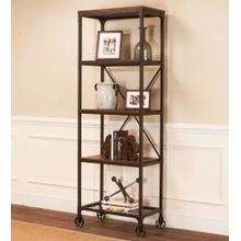 See Details - Bookcase / Etagere - Rustic Elm Industrial
