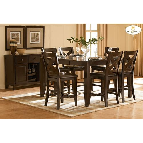 Homelegance - 5PC SET (Table with 4 Stools)
