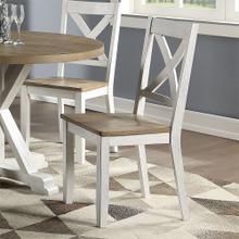 X Back Side Chair- White (RTA)