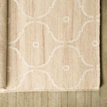 Wren II 120 x 96 Tan Wool and Viscose Yarn Rug