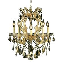 Maria Theresa Collection Chandelier Gold Finish 6Lt