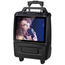 "2x5"" Portable Karaoke Speaker System With 14"" Screen"