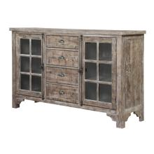 Interlude II Glass Door Buffet, Sandstone Brown D561-50-05
