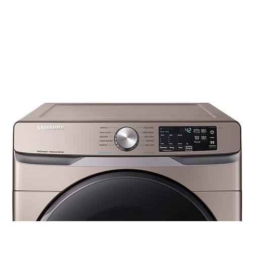 Samsung DVE45R6100C     7.5 cu. ft. Electric Dryer with Steam Sanitize  in Champagne