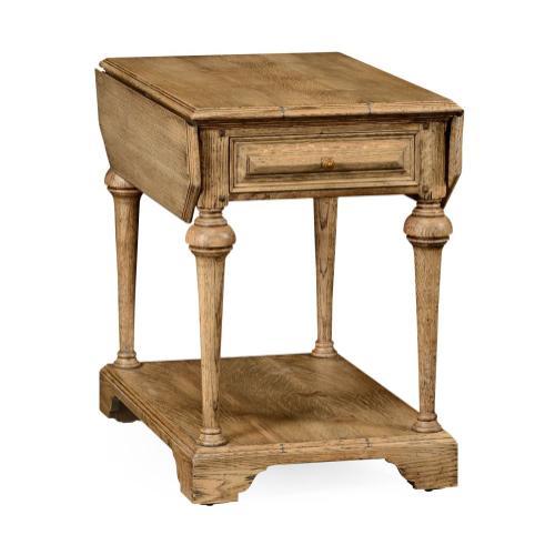 Elizabethan pembroke natural oak table