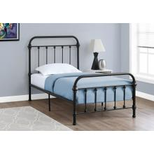 See Details - BED - TWIN SIZE / BLACK METAL FRAME ONLY