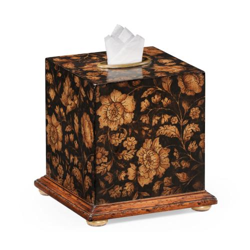 Black Chinoiserie Tissue Box