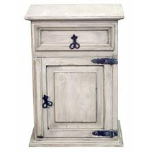 See Details - White Wash 1drw 1dr Nightstand