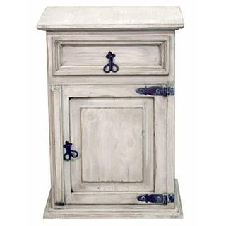 White Wash 1drw 1dr Nightstand
