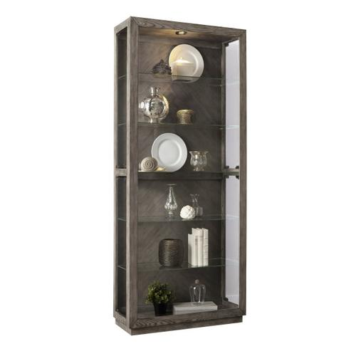 Pulaski Furniture - Wood Grain Lighted Curio with Six Shelves