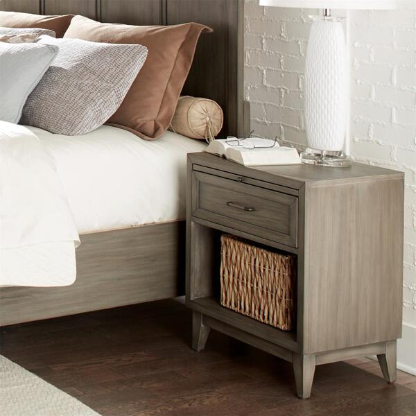 See Details - Vogue - One Drawer Nightstand - Gray Wash Finish