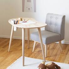 Solid Wood Kids Table with - Natural Wood and Gray