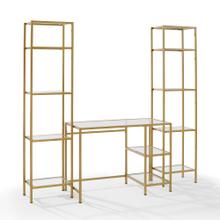 See Details - Aimee 3pc Desk and Etagere Set