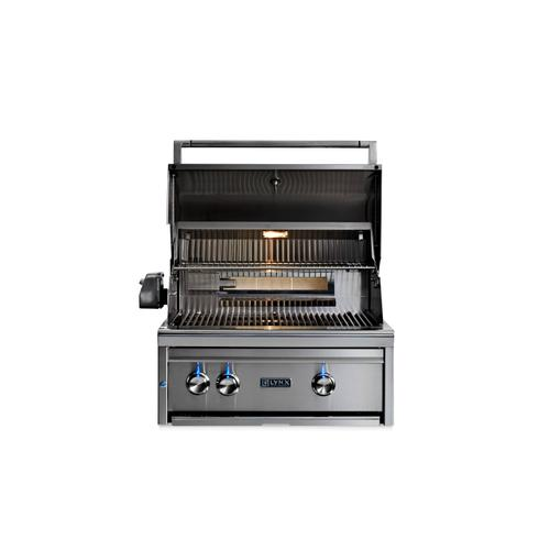 "27"" Lynx Professional Built In Grill with 1 Trident and 1 Ceramic Burner and Rotisserie, NG"