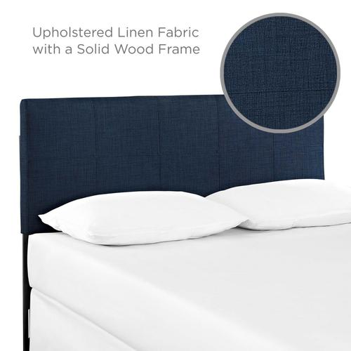 Modway - Oliver Queen Upholstered Fabric Headboard in Navy