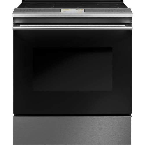 "Café 30"" Slide-In, Front-Control, Induction Range with Convection Modern Glass"