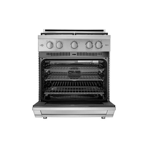 """30"""" Gas Pro Range, Silver Stainless Steel, Natural Gas/High Altitude"""