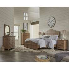 Madison - California King Bed Rails - Caramel Finish