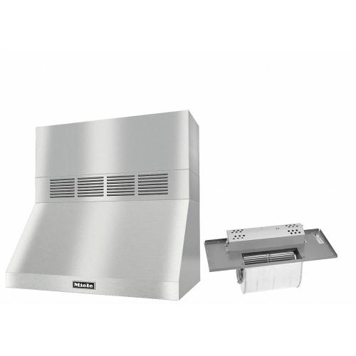 """DAR 1230 Set 3 Wall-Mounted Range Hood With Circulation Mode with integrated XL motor including 12"""" chimney cover."""