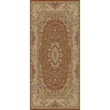 "Persian Design 1.5 Million Point Heatset Tabriz 3695 Area Rug by Rug Factory Plus - 5'4"" x 7'5"" / Rose"