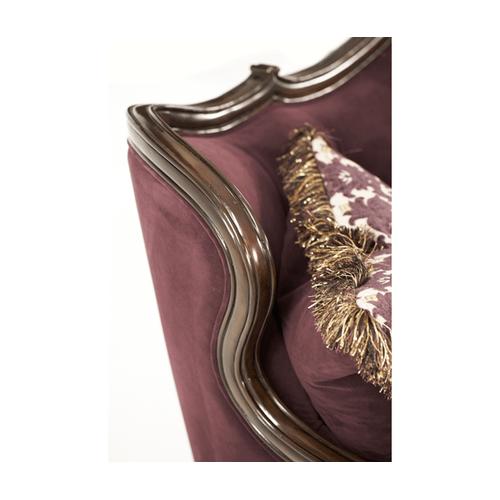 Wood Trim Tufted Sofa - Opt1