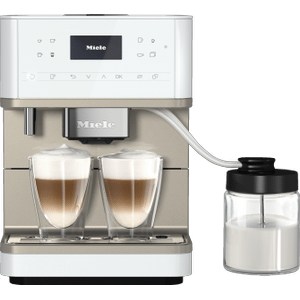 MieleCM 6360 MilkPerfection - Countertop coffee machine With WiFi Conn@ct, high-quality milk container, and many specialty coffees.