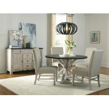 View Product - Jefferson Round Dining Table, Distressed Brown