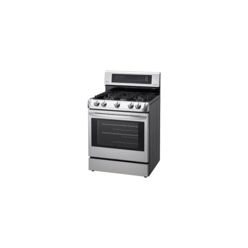 LG - 6.3 cu. ft. Gas Single Oven Range with ProBake Convection® and EasyClean®