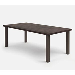 "42"" x 84"" Rectangular Cafe Table (with Hole) Ht: 30.25"" Post Aluminum Base (Model # Includes Both Top & Base)"