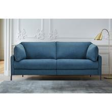 """See Details - Juliett 80"""" Modern Blue Fabric Power Reclining Sofa"""