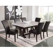 Finley 7 Piece Marble Top Dining(Table & 6 Side Chairs)